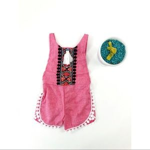 Other - BOHO NWT Red Baby Romper Jumper Overalls 6-12MO